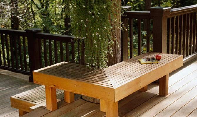 Wooden Seating Your Outdoor Deck Superior Hardwoods