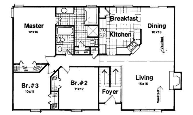 Woodland Park Split Level Home Plan House