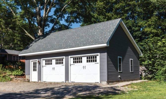 Woodstock Saltbox Style Single Story Garage Barn