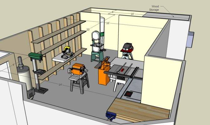 Woodwork Small Woodworking Shop Floor Plans Pdf House