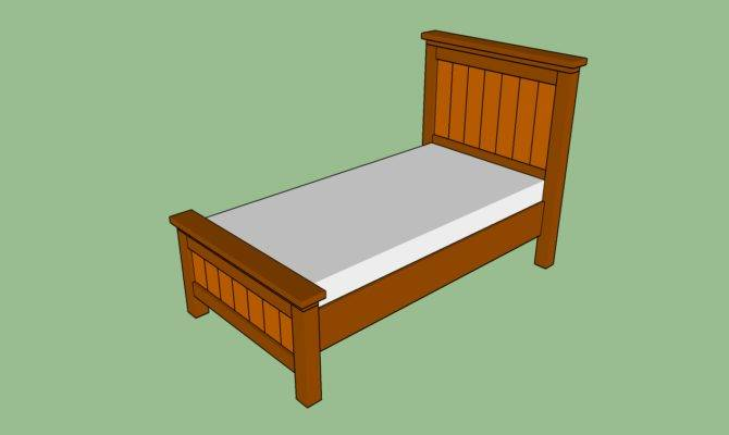 Woodwork Twin Bed Frame Plans Pdf