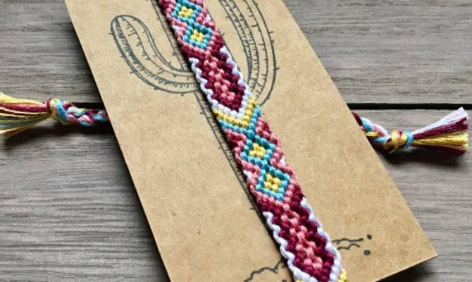 Woven Friendship Bracelet Anklet Braided Desertweaves