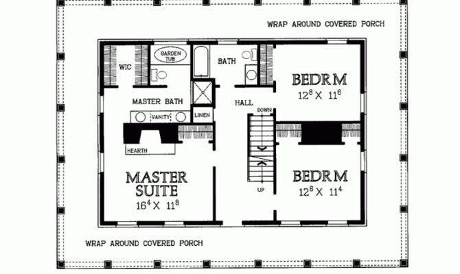 Wrap Around Porch Floor Plan Dream Home Pinterest