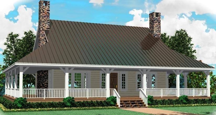 Wrap Around Porch House Plans Farm Country Home House Plans 40704