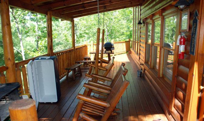 Wraparound Covered Porch Sides Cabin Nice