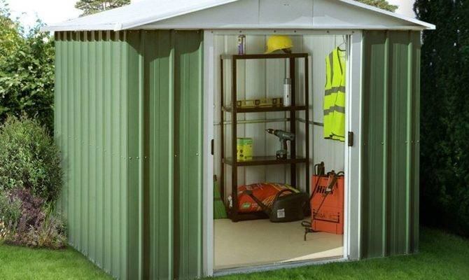 Yardmaster Green Metal Shed Geyz Floor