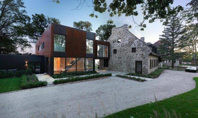 Year Old Stone House Renovated Contemporary Interior