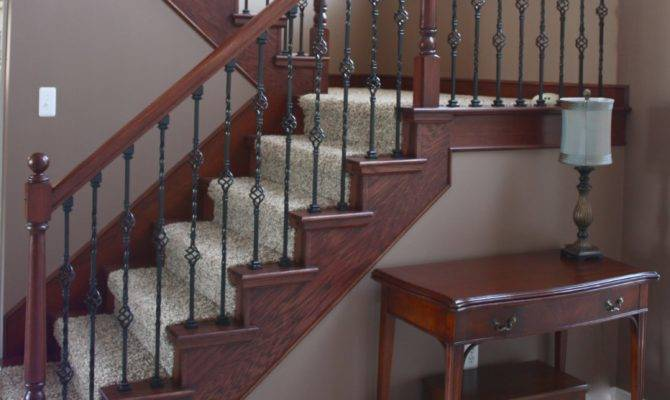 Yellow Cape Cod Staircase Makeover Before After