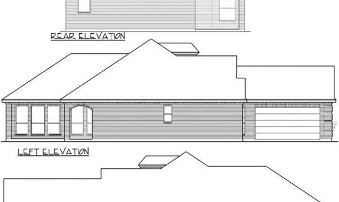 Zero Lot Line Narrow House Plan Floor